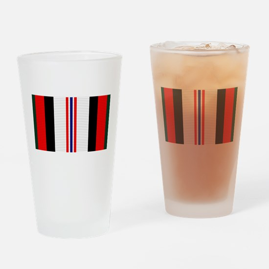 Afghanistan campaign ribbon Drinking Glass