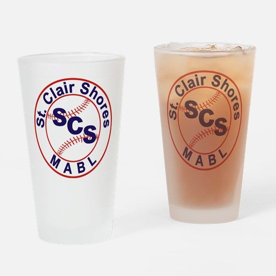 SCS MABL Baseball League Drinking Glass