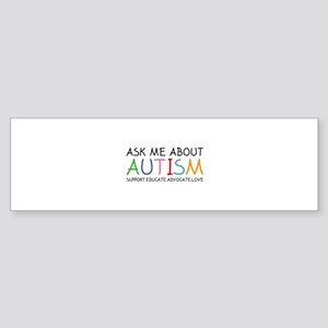 Ask Me About Autism Sticker (Bumper)