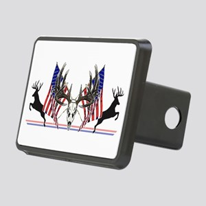 Patriotic Whitetail buck Hitch Cover