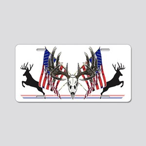 Patriotic Whitetail buck Aluminum License Plate