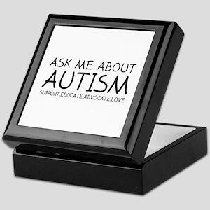 Ask Me About Autism Keepsake Box