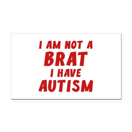 I Have Autism Rectangle Car Magnet