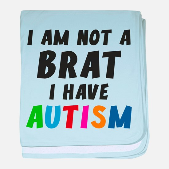 I Have Autism baby blanket