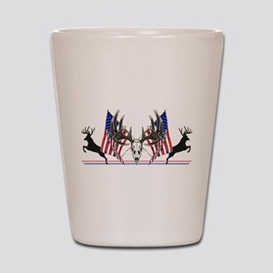 Patriotic Whitetail buck Shot Glass