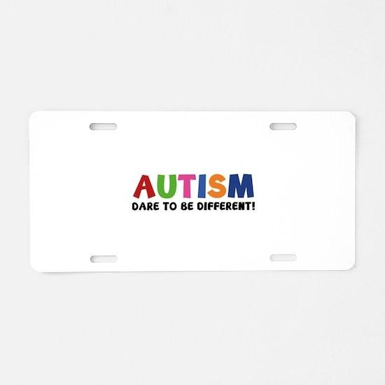Autism Dare To Be Different! Aluminum License Plat