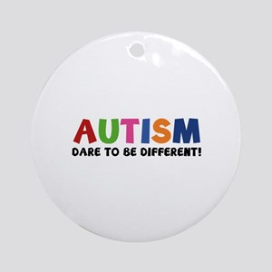 Autism Dare To Be Different! Ornament (Round)
