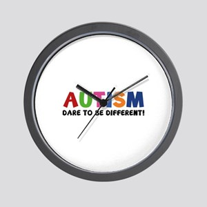 Autism Dare To Be Different! Wall Clock