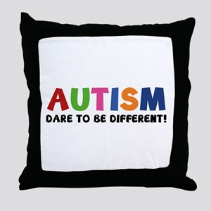 Autism Dare To Be Different! Throw Pillow