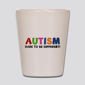 Autism Dare To Be Different! Shot Glass