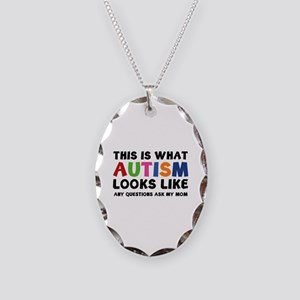 This is what Autism looks like Necklace Oval Charm