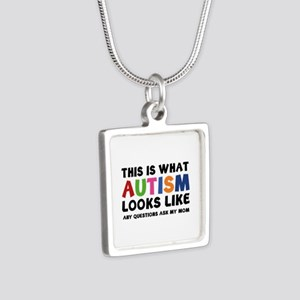 This is what Autism looks like Silver Square Neckl