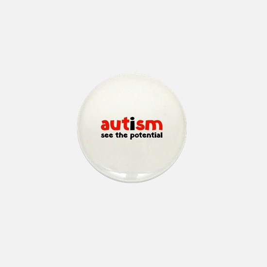 Autism See The Potential Mini Button