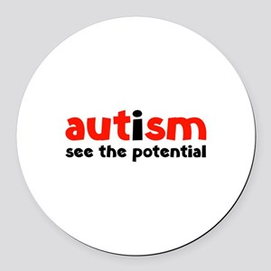 Autism See The Potential Round Car Magnet
