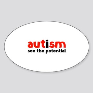 Autism See The Potential Sticker (Oval)