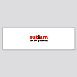 Autism See The Potential Sticker (Bumper)