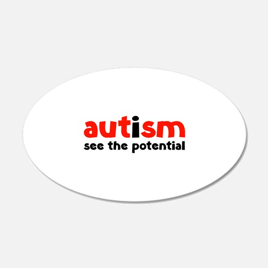 Autism See The Potential 22x14 Oval Wall Peel