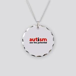 Autism See The Potential Necklace Circle Charm