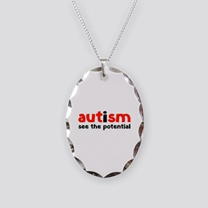 Autism See The Potential Necklace Oval Charm
