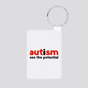 Autism See The Potential Aluminum Photo Keychain