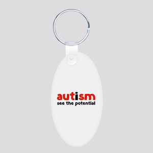 Autism See The Potential Aluminum Oval Keychain