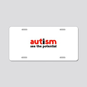Autism See The Potential Aluminum License Plate