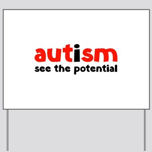 Autism See The Potential Yard Sign