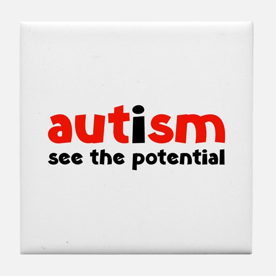 Autism See The Potential Tile Coaster