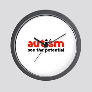 Autism See The Potential Wall Clock