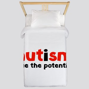 Autism See The Potential Twin Duvet