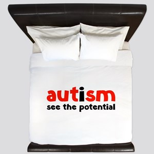 Autism See The Potential King Duvet