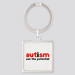 Autism See The Potential Square Keychain