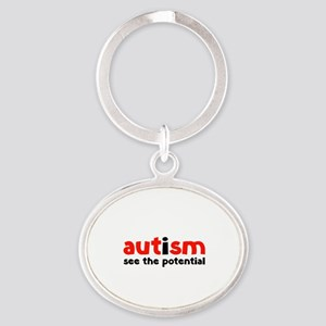 Autism See The Potential Oval Keychain