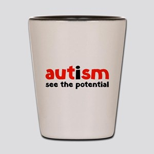Autism See The Potential Shot Glass
