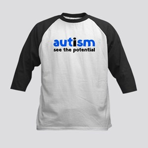 Autism See The Potential Kids Baseball Jersey