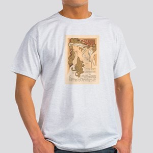 French Art Nouveau Vintage Ash Grey T-Shirt