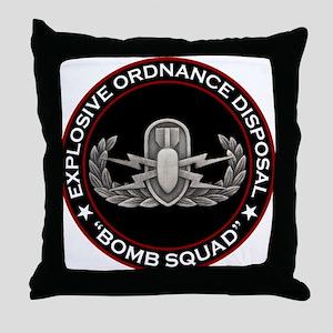 "EOD ""Bomb Squad"" Throw Pillow"
