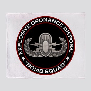 "EOD ""Bomb Squad"" Throw Blanket"