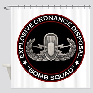 "EOD ""Bomb Squad"" Shower Curtain"