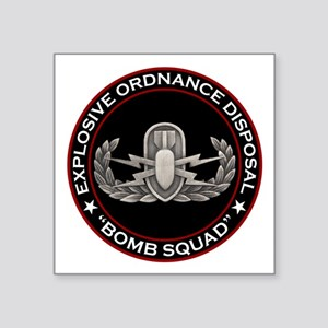 "EOD ""Bomb Squad"" Square Sticker 3"" x 3"""