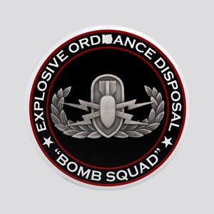 "EOD ""Bomb Squad"" Ornament (Round)"