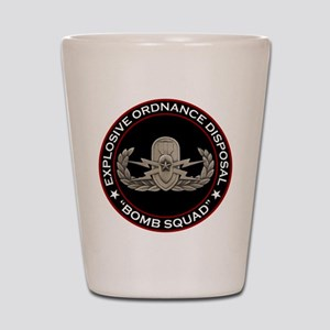 """EOD Senior """"Bomb Squad"""" Shot Glass"""
