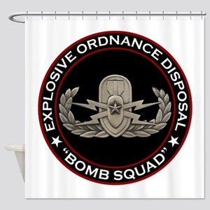 "EOD Senior ""Bomb Squad"" Shower Curtain"
