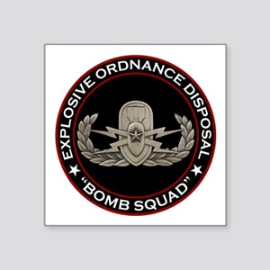 "EOD Senior ""Bomb Squad"" Square Sticker 3"" x 3"""