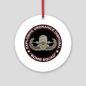 """EOD Senior """"Bomb Squad"""" Ornament (Round)"""