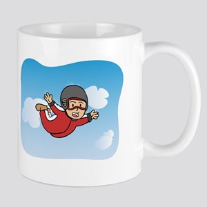 Flying Free and Happy through Skydiving Mug
