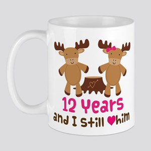 12th Anniversary Moose Mug