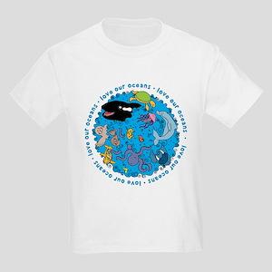 LUVROCEANS.png Kids Light T-Shirt