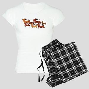 Running Weiner Dogs Women's Light Pajamas