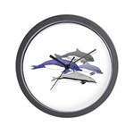 Four Dolphins together Wall Clock